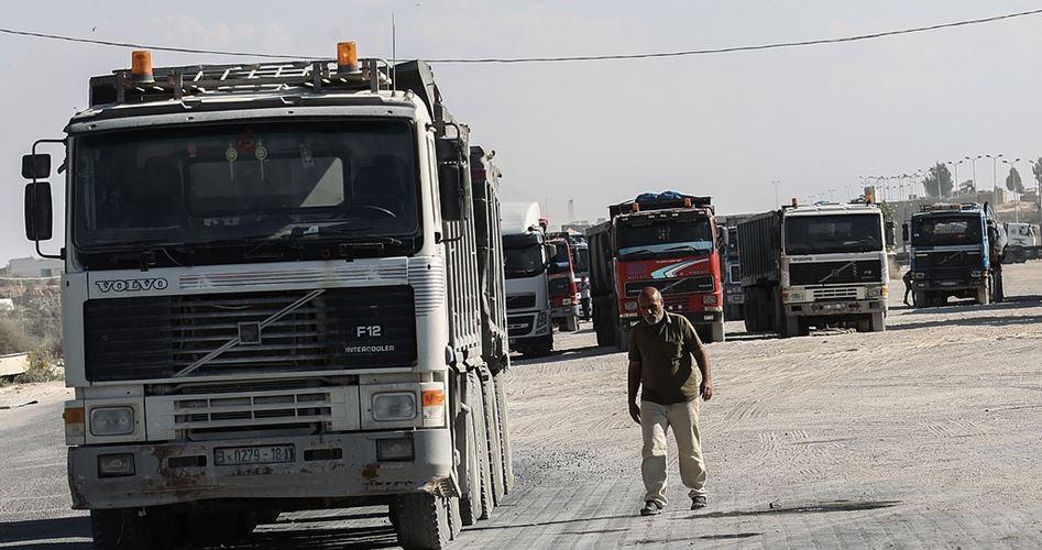 Drastica riduzione del numero di camion che entrano a Gaza