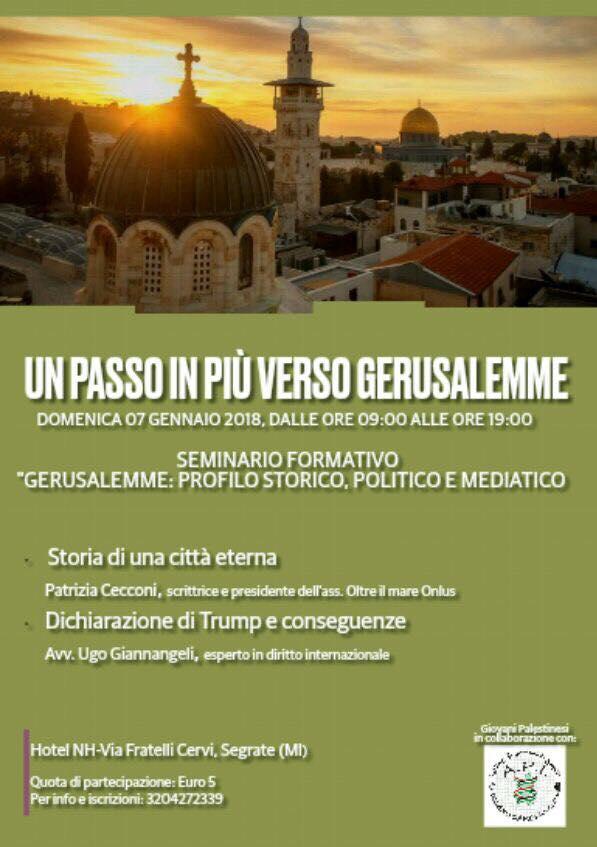 "Seminario: ""Un passo in più verso Gerusalemme"""