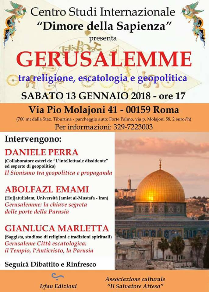 Gerusalemme, tra religione, escatologia e geopolitica