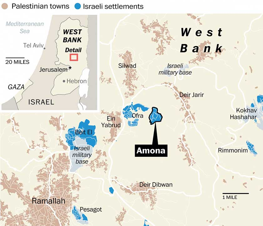 Amona, i proprietari palestinesi vi fanno ritorno (parzialmente)