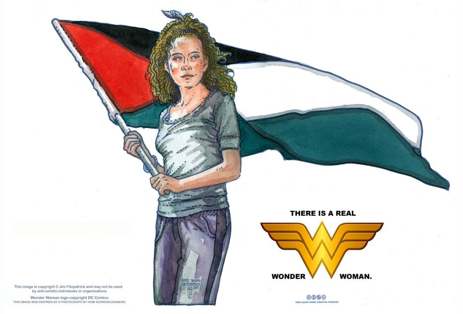 """Ahed Tamimi, la """"vera wonderwoman"""""""