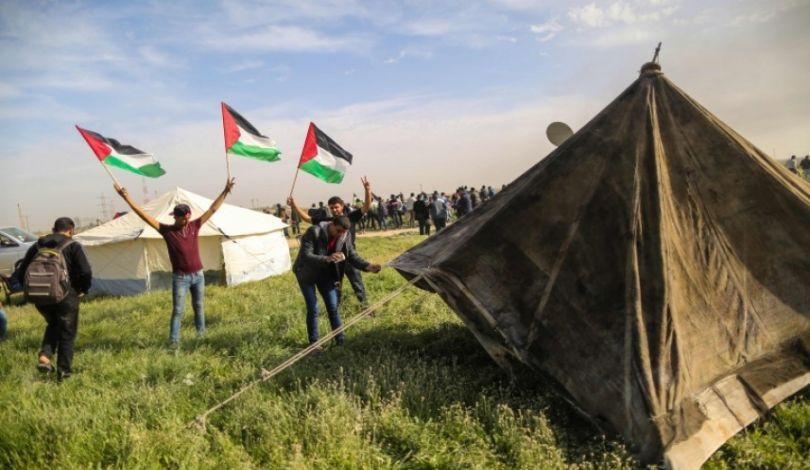 Striscia di Gaza, 3 Palestinesi feriti dalle forze israeliane durante preparazione Marcia del Ritorno