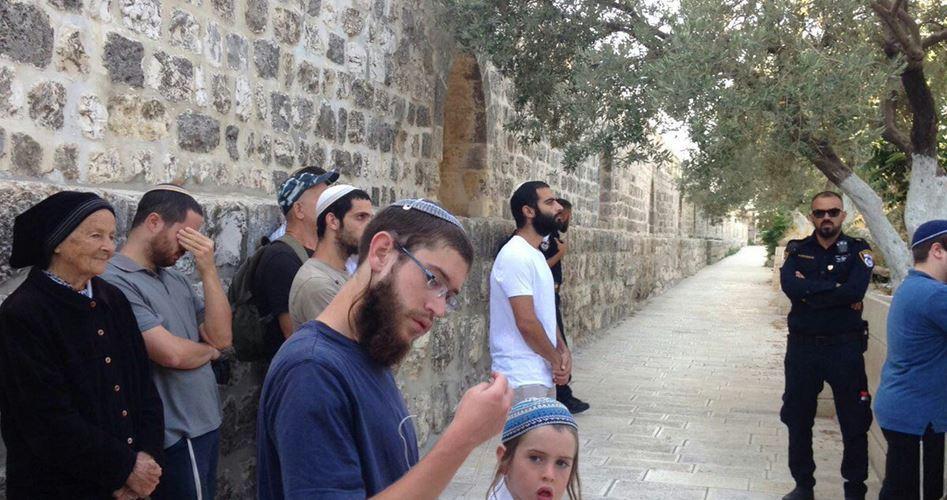 56 coloni profanano al-Aqsa