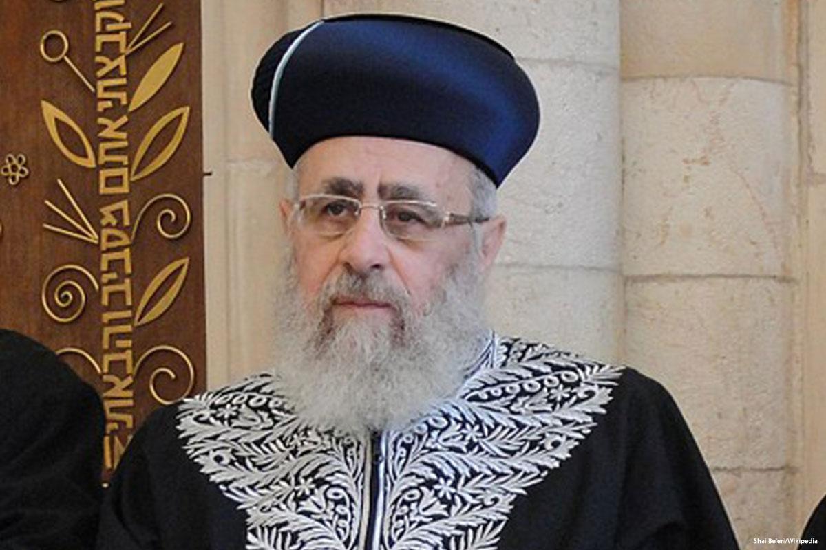 """Il rabbino capo israeliano chiama gli Afroamericani """"scimmie"""""""