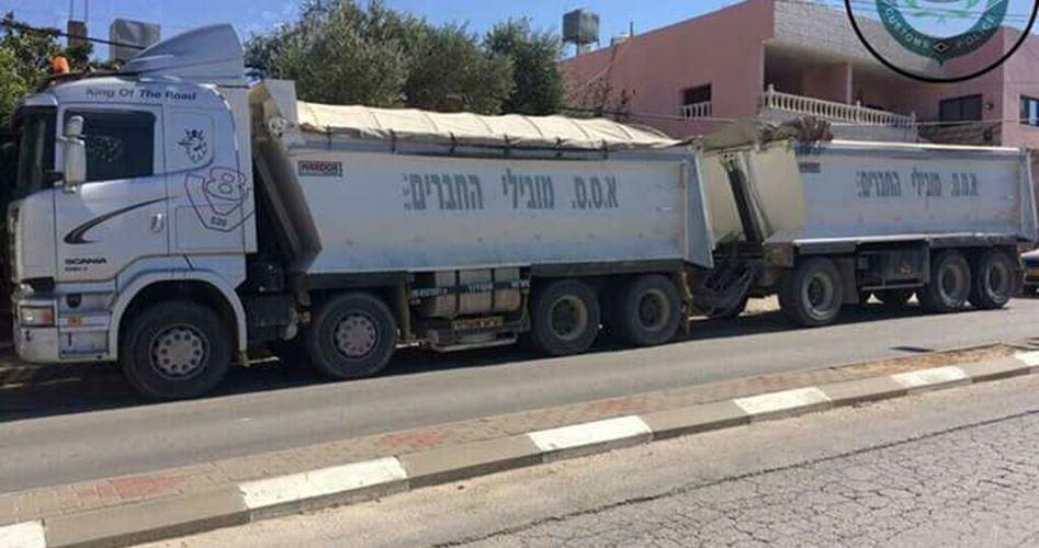 Camion israeliano di rifiuti tossici sequestrato a Salfit
