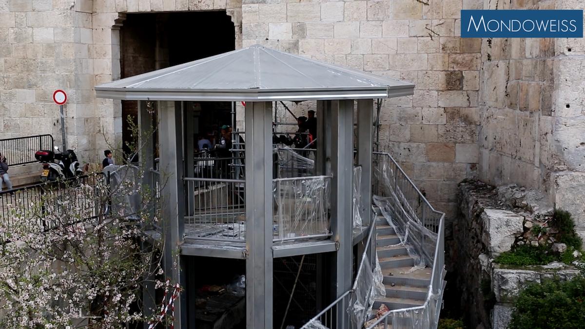 Il timore dei gerosolimitani per la costruzione di un nuovo check-point alla Porta di Damasco