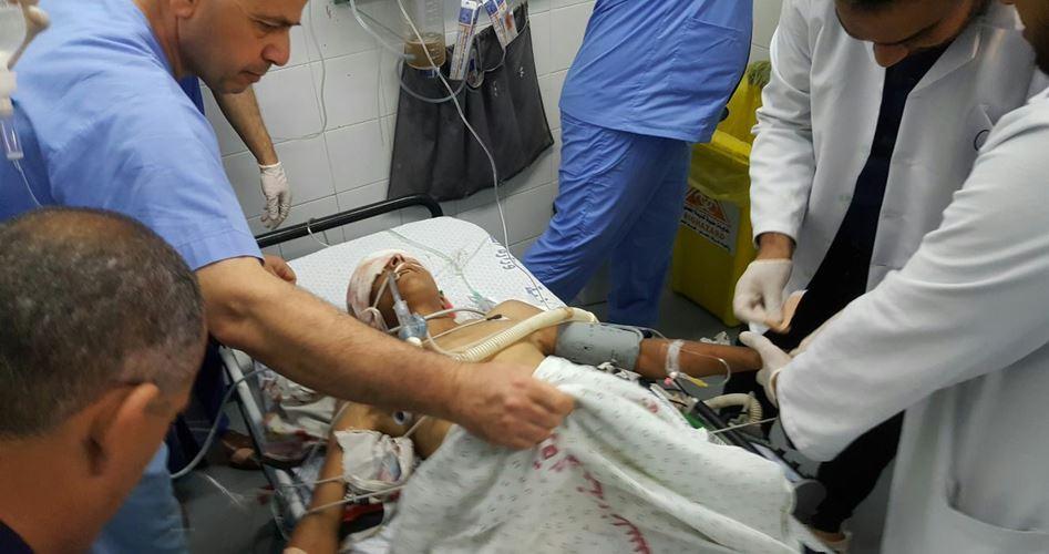 Ragazzino sordo gravemente ferito dalle forze israeliane a Gaza