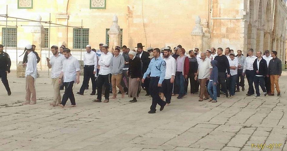 """1451 coloni hanno invaso al-Aqsa per la """"riunificazione di Gerusalemme"""""""