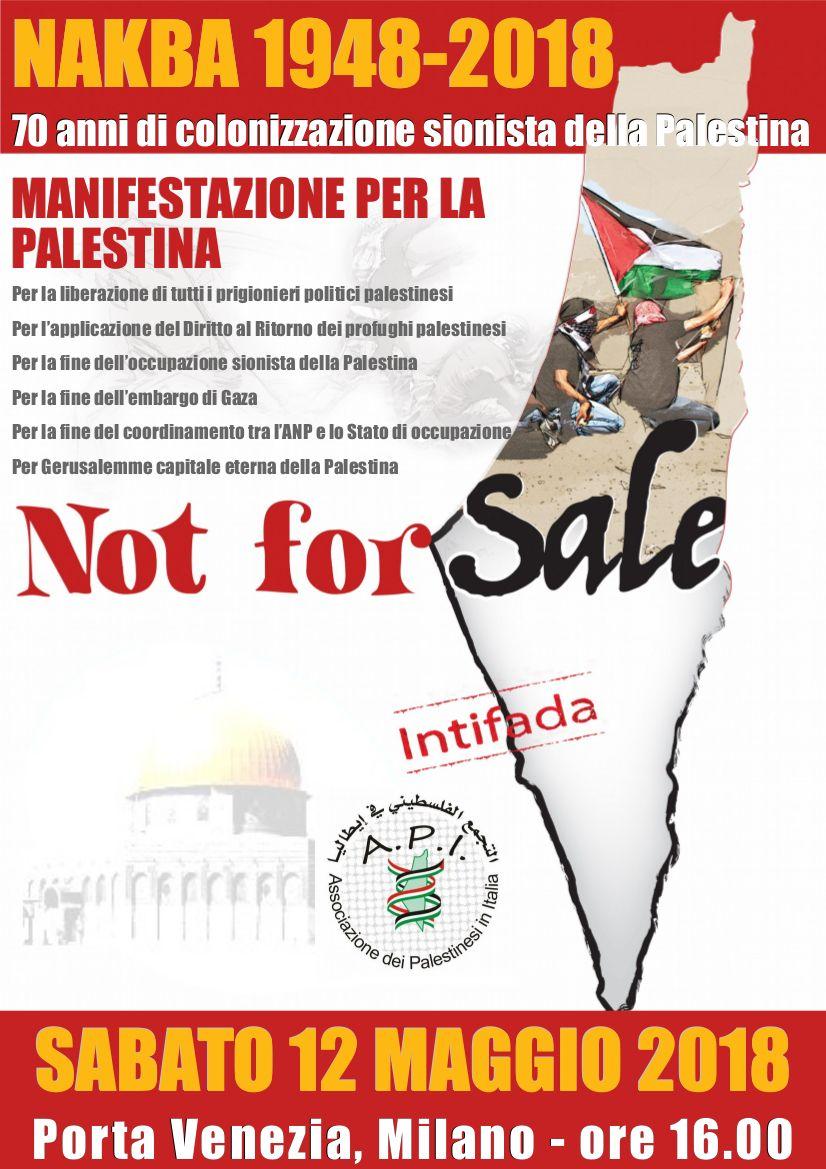 Corteo di solidarietà con la Palestina per il70° anniversario della Nakba