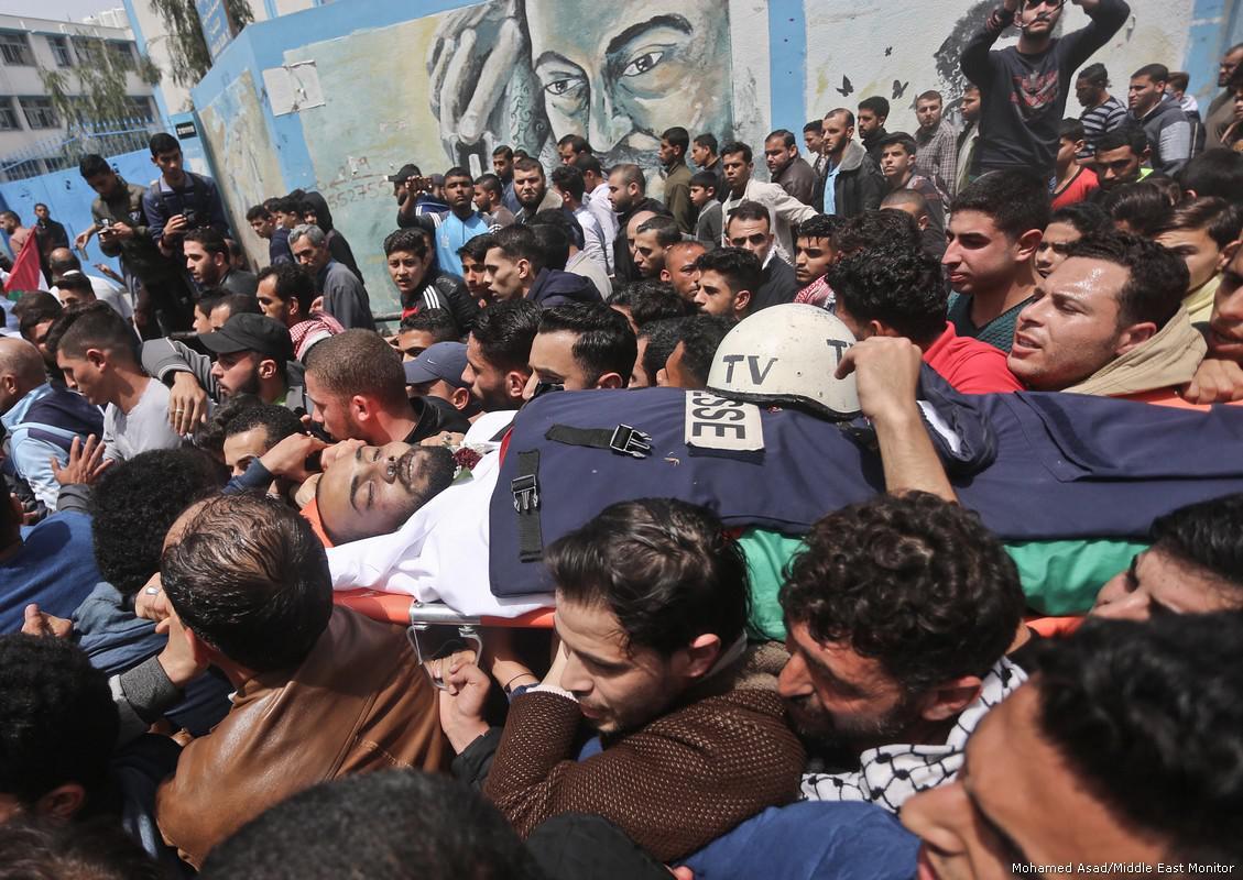 Feriti dai soldati israeliani 55 giornalisti che coprivano le manifestazioni di Gaza