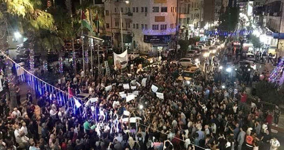 Grandi marce in Cisgiordania per chiedere all'ANP di revocare sanzioni su Gaza