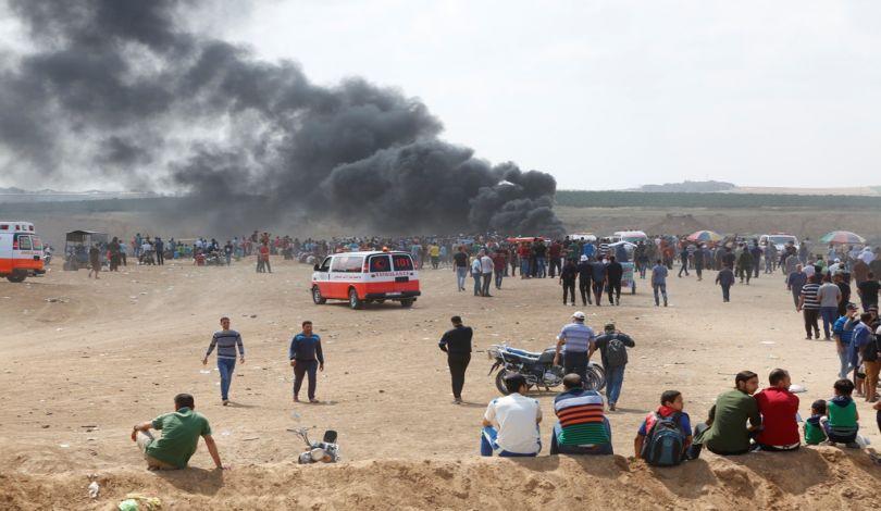 Manifestazioni nella Striscia di Gaza: 4 Palestinesi uccisi dalle forze israeliane e oltre 600 tra feriti e asfissiati
