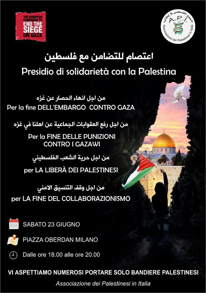 Presidio di solidarietà con la Palestina