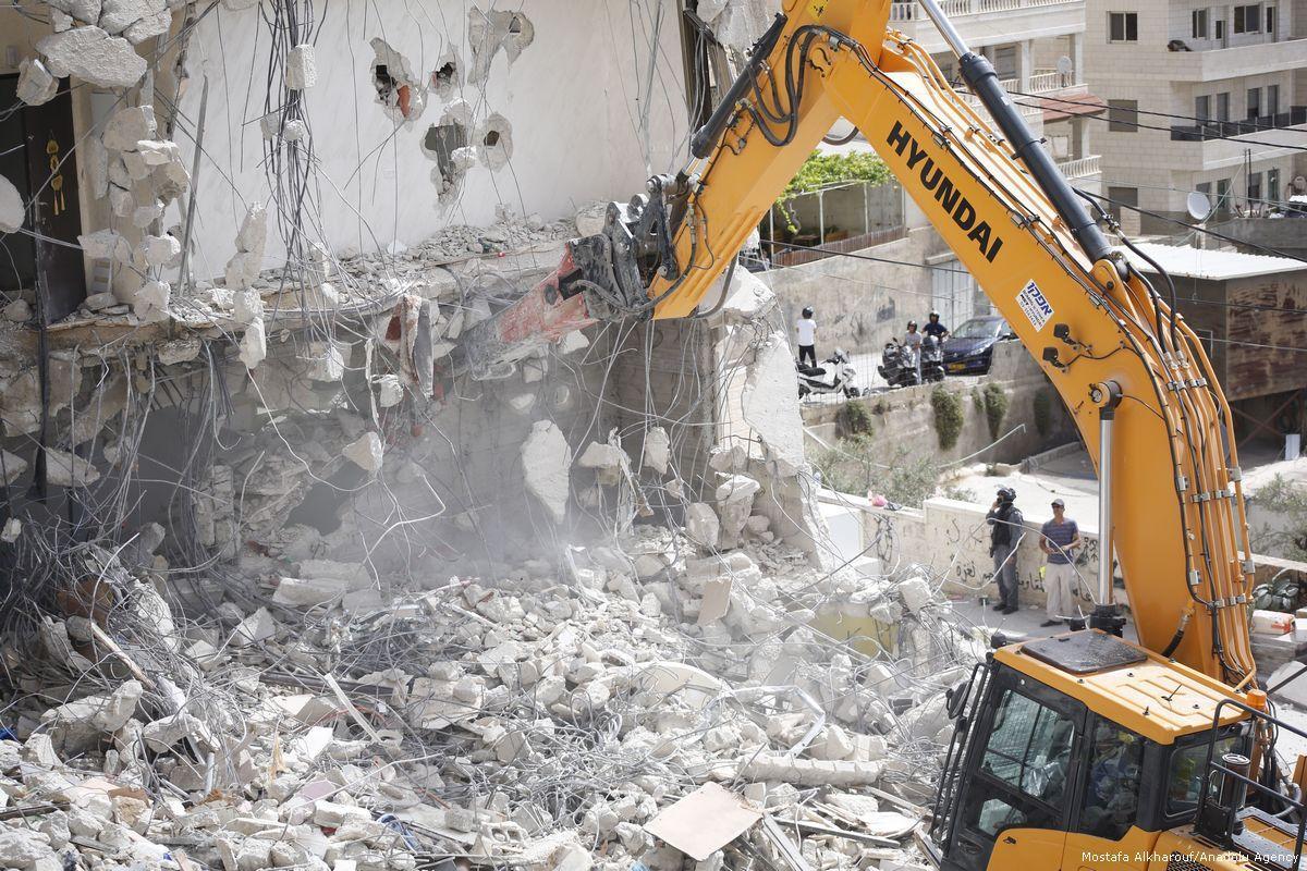 Israele ha demolito 63 strutture palestinesi a Gerusalemme nel 2018