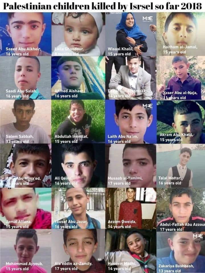 Il genocidio dei bambini palestinesi