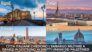 Città italiane chiedono l'embargo militare a Israele contro violazioni dei diritti dei Palestinesi