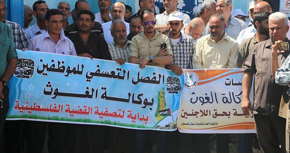 Gaza, i dipendenti dell'UNRWA riprendono le proteste