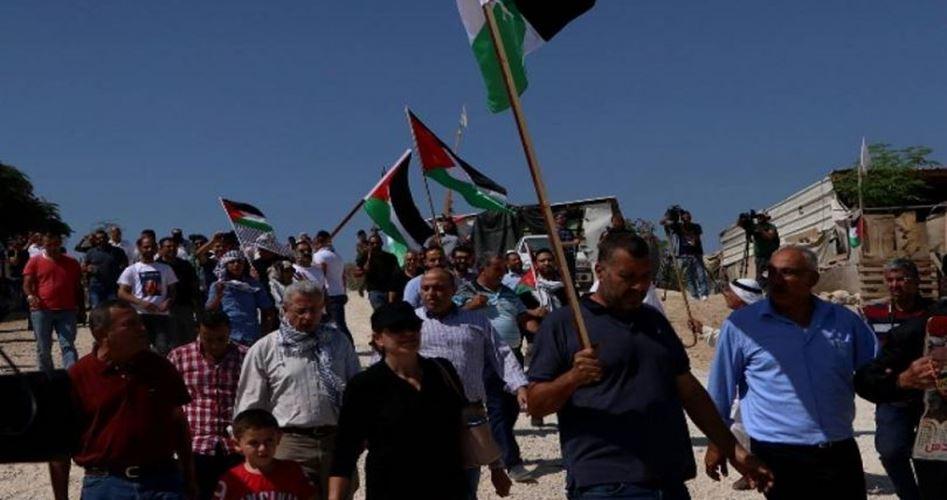 Palestinesi protestano contro demolizione di Khan al-Ahmar