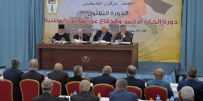 Consiglio Centrale decide di porre fine a tutti gli impegni con Israele