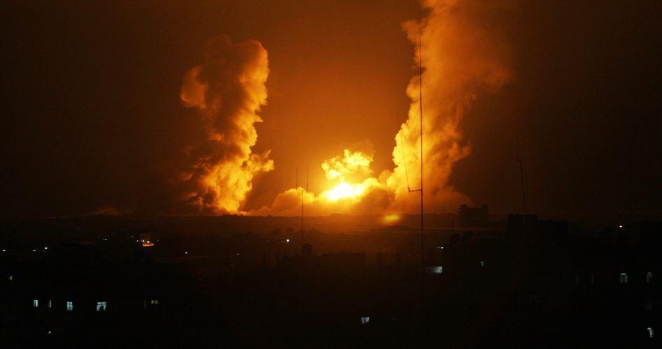 Bombardamento aereo israeliano contro la Striscia di Gaza