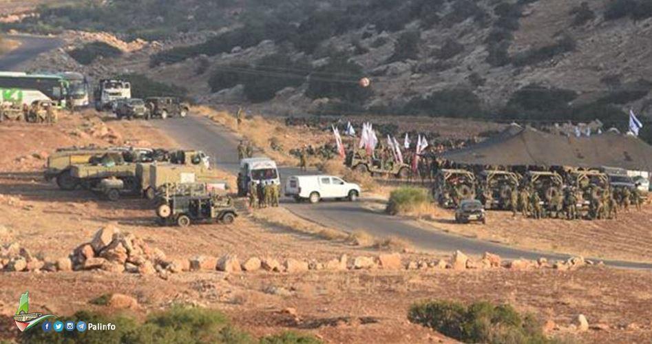 Esercitazioni militari israeliane al confine di Gaza e nella Valle del Giordano