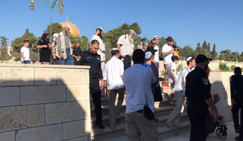 Gerusalemme, 72 coloni, protetti dalle forze israeliane, invadono i cortili di al-Aqsa