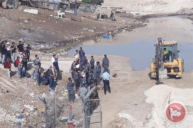 Khan al-Ahmar sommersa di acque reflue per la seconda volta