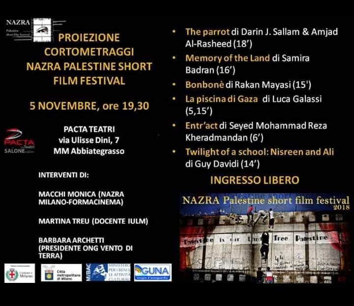 Milano, Nazra Palestine short film festival