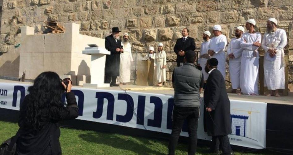 Attivisti israeliani costruiscono altare per sacrifici di animali a Gerusalemme