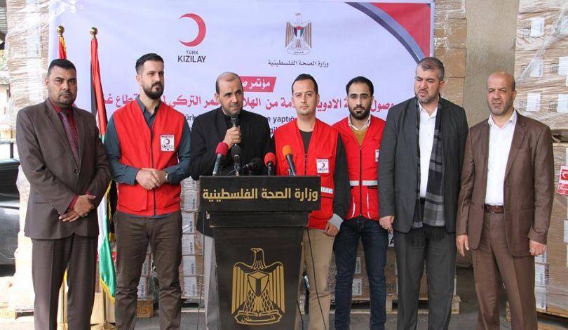 La Striscia di Gaza ricevere forniture mediche dalla Turchia