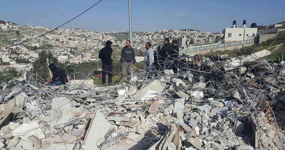 12 case palestinesi demolite da Israele a Wadi Ar