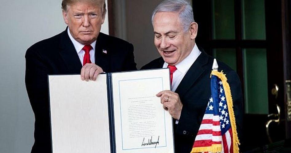 Trump riconosce ufficialmente la regione siriana occupata come zona israeliana