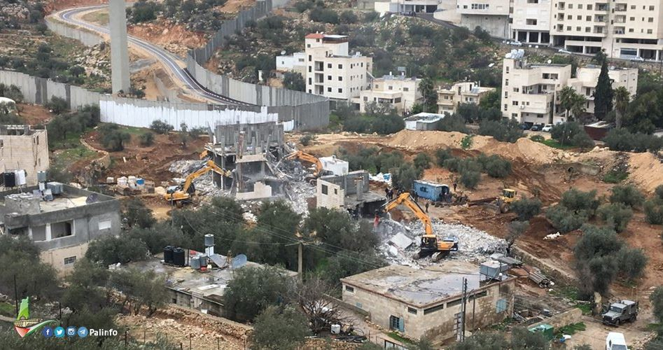 Israele emette ordini di demolizione per 9 case palestinesi