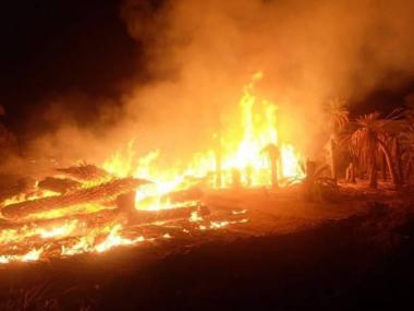 Addestramento militare israeliano provoca incendio in terre palestinesi