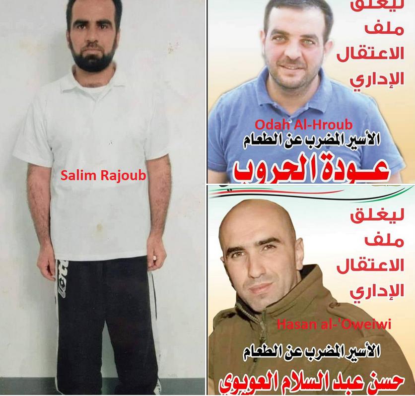 Nonostante il deterioramento delle condizioni, tre detenuti continuano lo sciopero della fame.