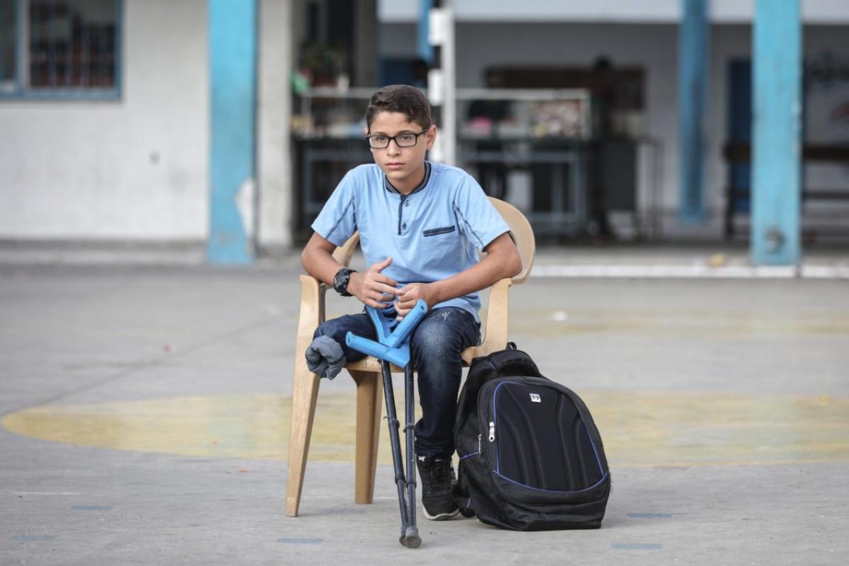 OMS: a Gaza 3 bambini al mese resi disabili per il resto della vita