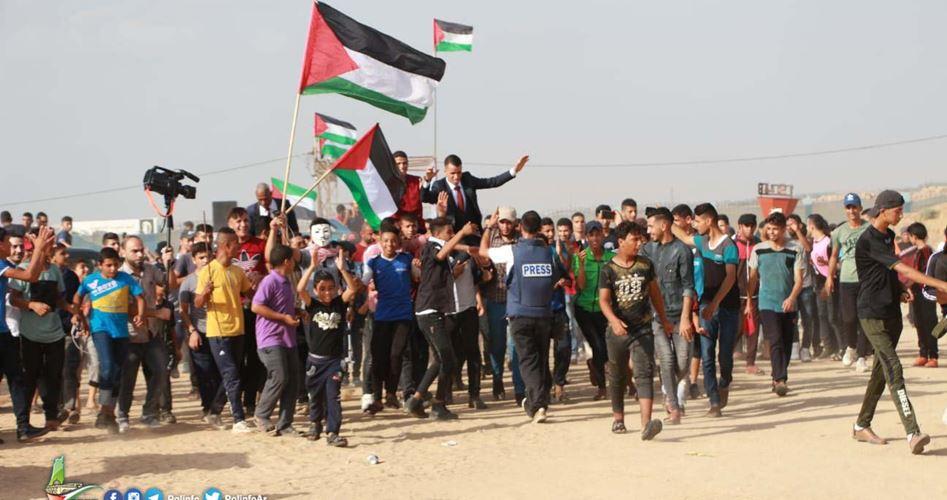 Striscia di Gaza, Grande Marcia del Ritorno, 1 palestinese ucciso e 56 feriti