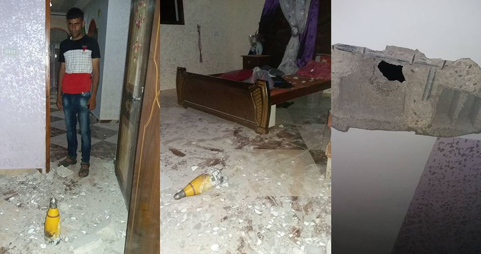Striscia di Gaza, razzo rischiarante israeliano cade su casa e provoca danni