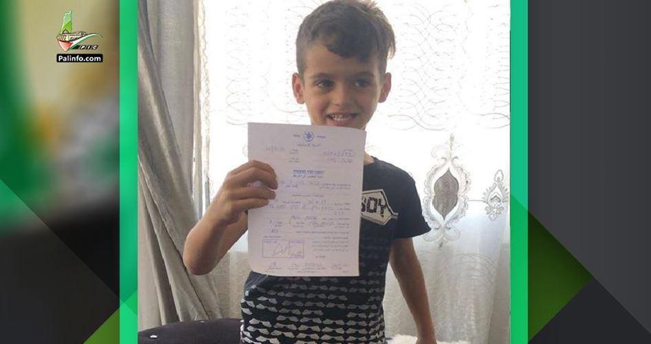 Infanzia palestinese nel mirino: ordine di comparizione per bimbo di 6 anni
