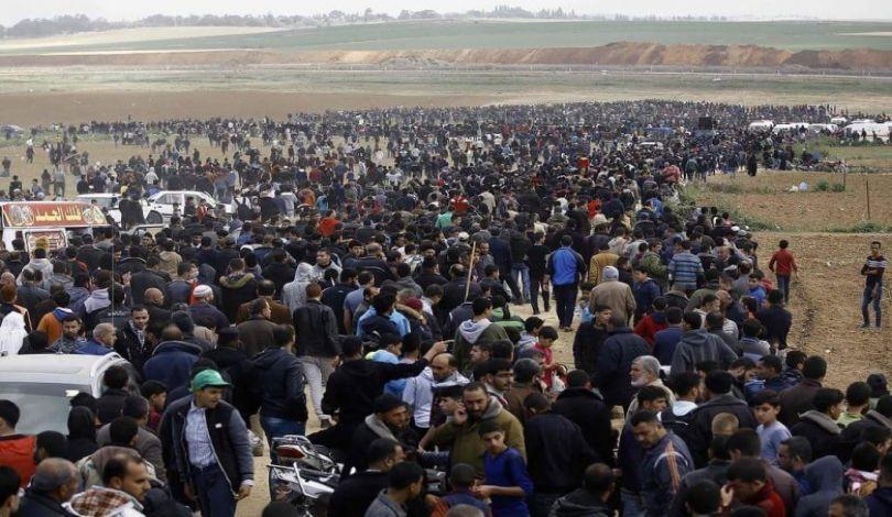 La popolazione gazawi si prepara al 66° venerdì della Grande Marcia del Ritorno