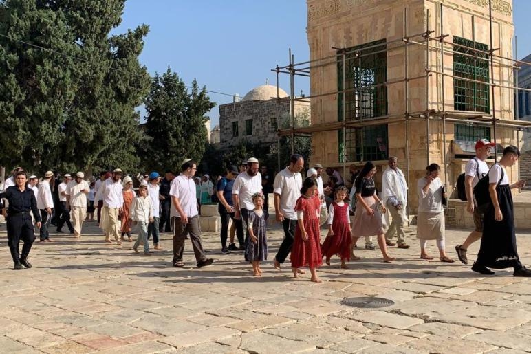 Circa 5.000 coloni hanno invaso al-Aqsa durante il Sukkot
