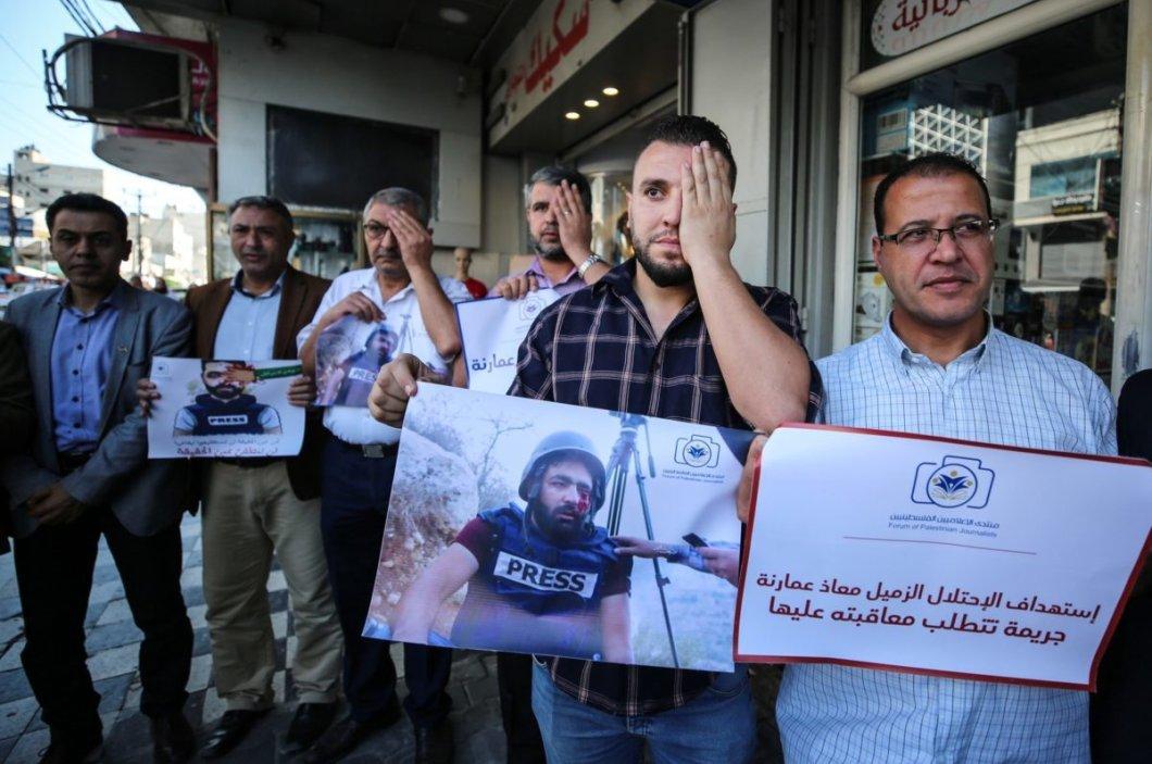 Nel 2019, 60 giornalistipalestinesi sono stati colpiti da proiettili israeliani