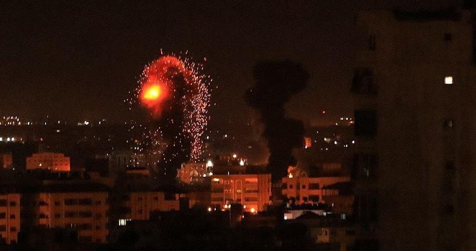 Bombardamento israeliano contro la Striscia di Gaza