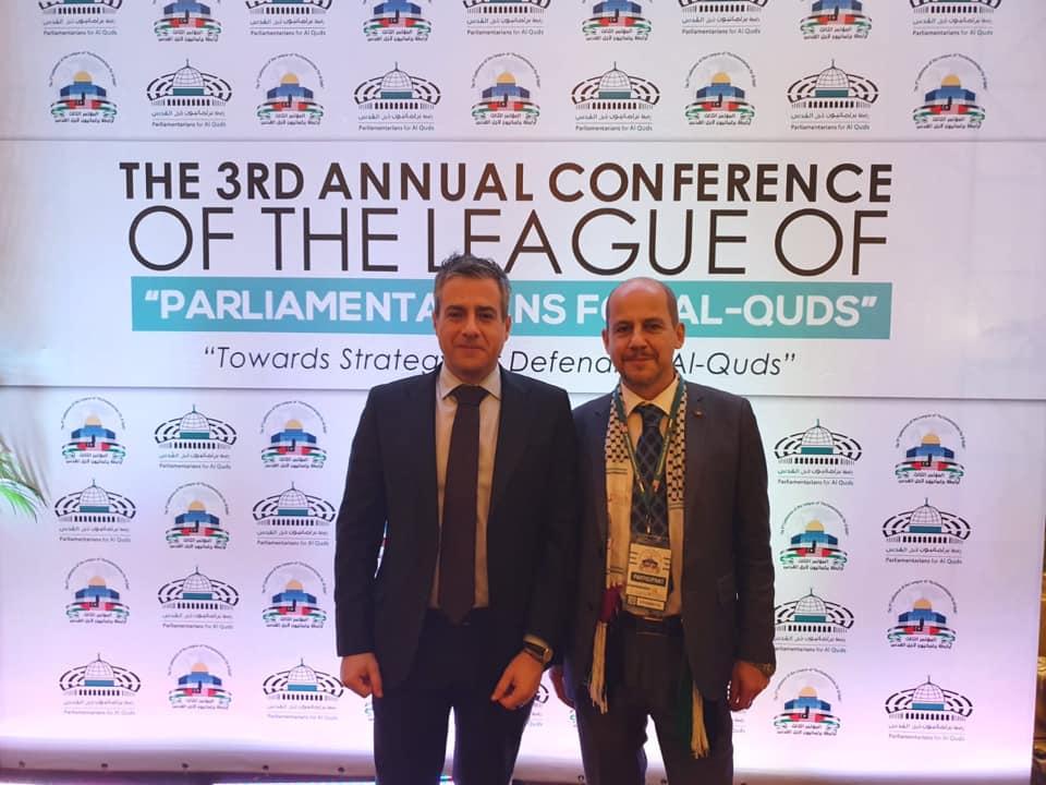 """Rappresentanti italiani alla III Conferenza internazionale """"Parliamentarians for al-Quds"""""""