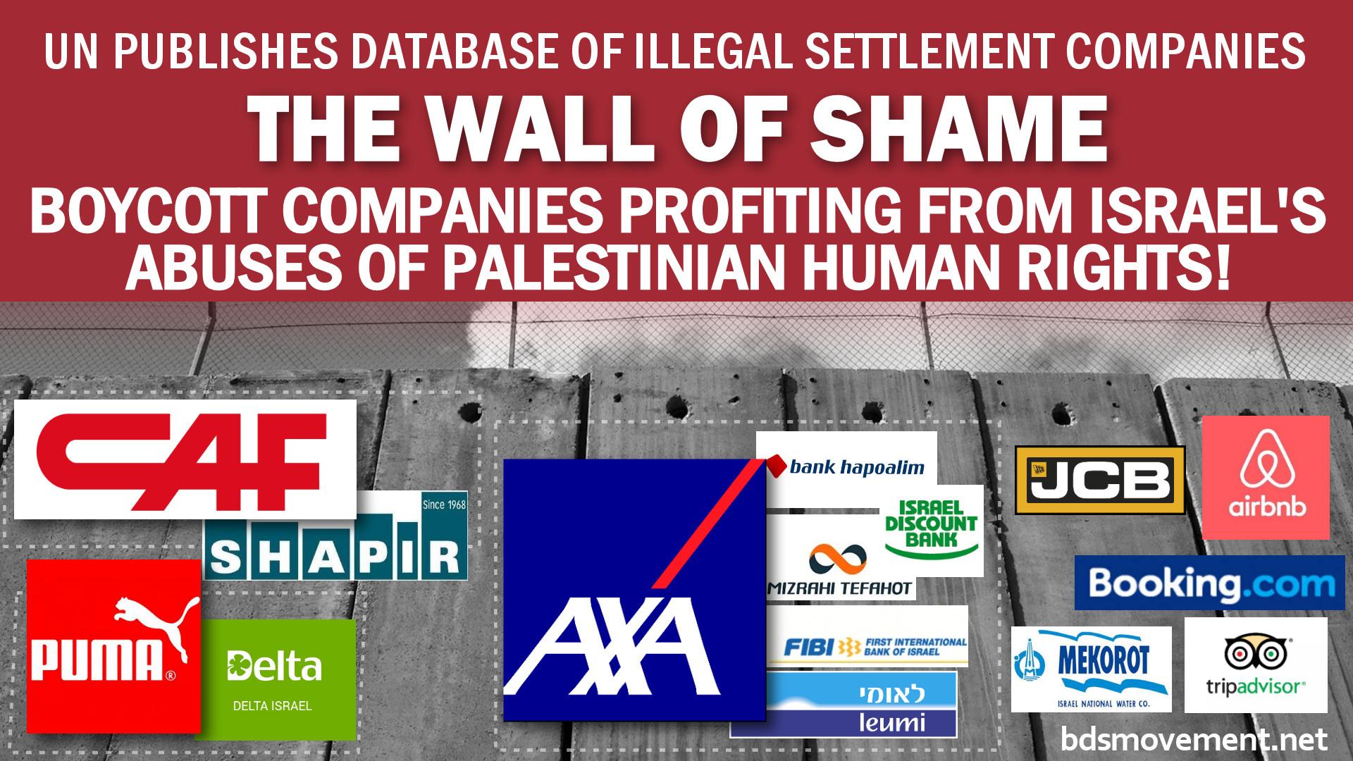 L'ONU mette nella black-list 112 compagnie israeliane e internazionali complici degli insediamenti coloniali