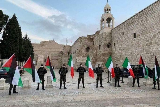Manifestazione di solidarietà dalla Palestina all'Italia