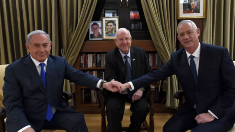 """Gli israeliani Netanyahu e Gantz """"vicini ad un accordo"""" per porre fine allo stallo politico"""