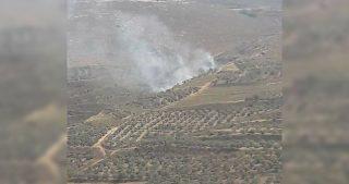 Coloni bruciano terreni agricoli palestinesi a Nablus