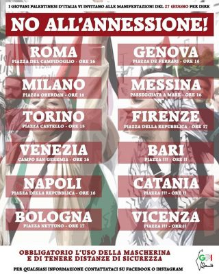 """No all'annessione"", sit-in in Italia"
