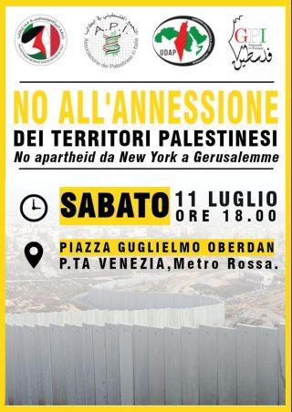"""Sit-in a Milano """"No all'annessione dei Territori palestinesi"""""""